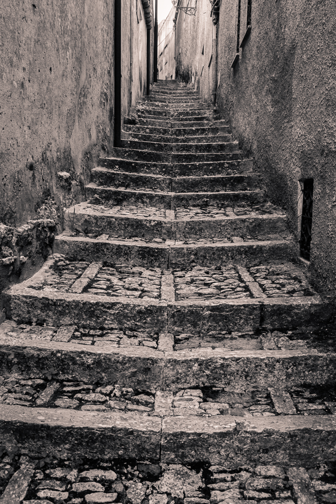 There are many steps in Erice.